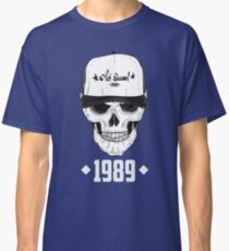 Skull with modern street style attributes. Vector illustration Classic T-Shirt