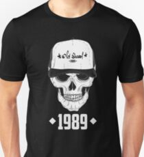 Skull with modern street style attributes. Vector illustration T-Shirt