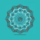 Turquoise Mandala by Genevieve Crabe