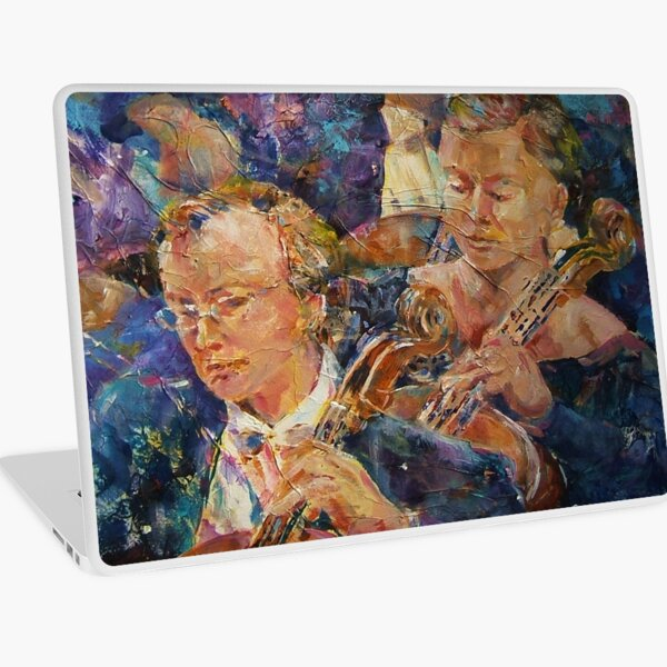 Cellists In Orchestra - Music Art Gallery Laptop Skin