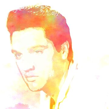 Elvis presley watercolor digital art by chris2766