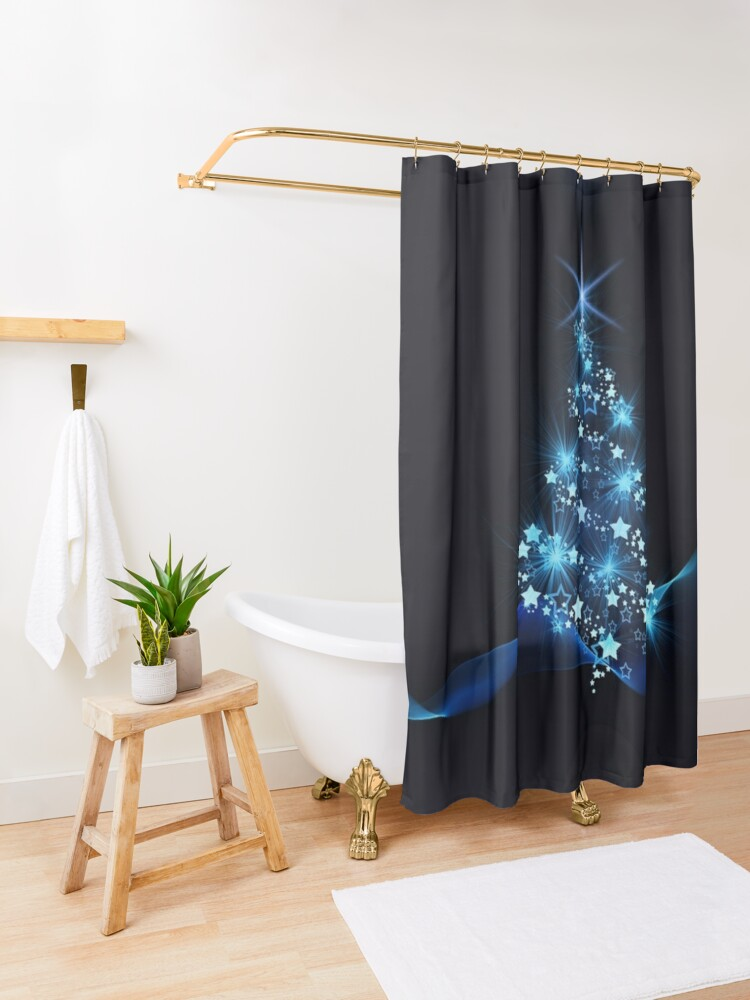 Alternate view of Blue Shower Curtain