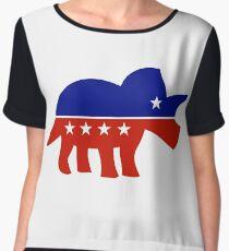 Triceratops Political Logo Women's Chiffon Top