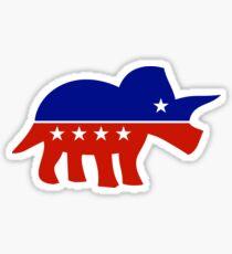Triceratops Political Logo Sticker