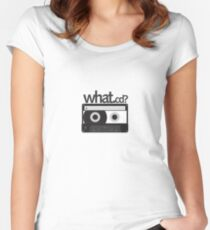 what .cd? Women's Fitted Scoop T-Shirt