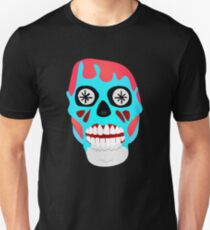 THEY LIVE  - SKULL - T-SHIRT - OBEY - CONSUME - WATCH TV - WORK - REPRODUCE - THIS IS YOUR GOD T-Shirt