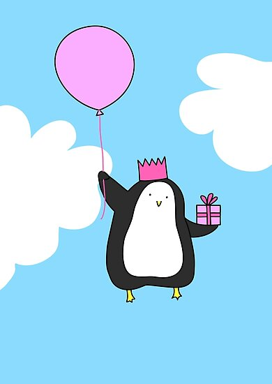 Penguin with Balloon by Zoe Lathey
