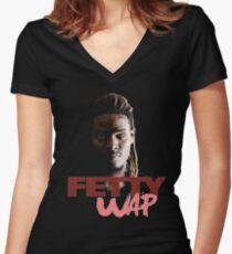 again fetty wap Women's Fitted V-Neck T-Shirt