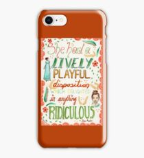 Jane Austen - Pride and Prejudice - Quote iPhone Case/Skin