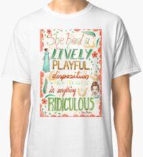 Jane Austen - Pride and Prejudice - Quote Classic T-Shirt