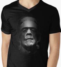 Frankenstein Monster Boris Karloff Face Men's V-Neck T-Shirt