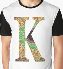 Flower Mandala Initial K Graphic T-Shirt