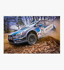 Subaru STI Rally Car Photographic Print