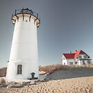 Race Point Lighthouse Provincetown Cape Cod  by Artist Dapixara