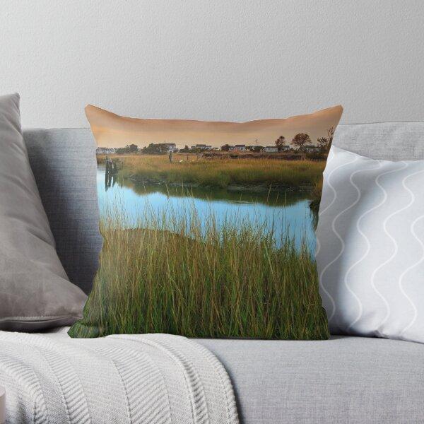 Marches Of Duck Creek Wellfleet Cape Cod Throw Pillow