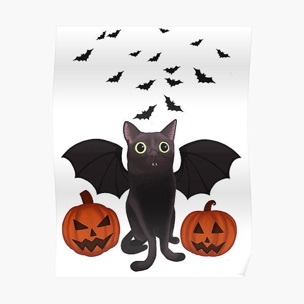 Halloween Bat Jinx Poster