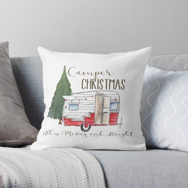 Camper Christmas Throw Pillow