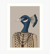 Indian Peacock Art Print