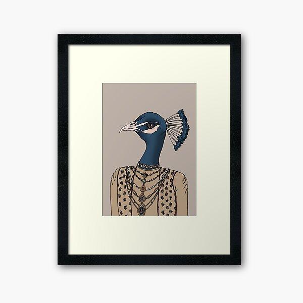 Indian Peacock Framed Art Print