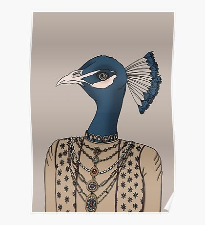 Indian Peacock Poster