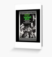 The Night Of The Living Dead Zombie Movie Poster Greeting Card