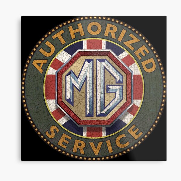 MG  Authorized service UK Metal Print