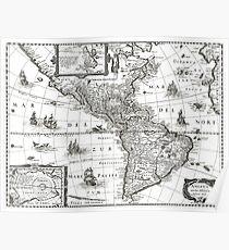1637 - America noviter delineata Poster