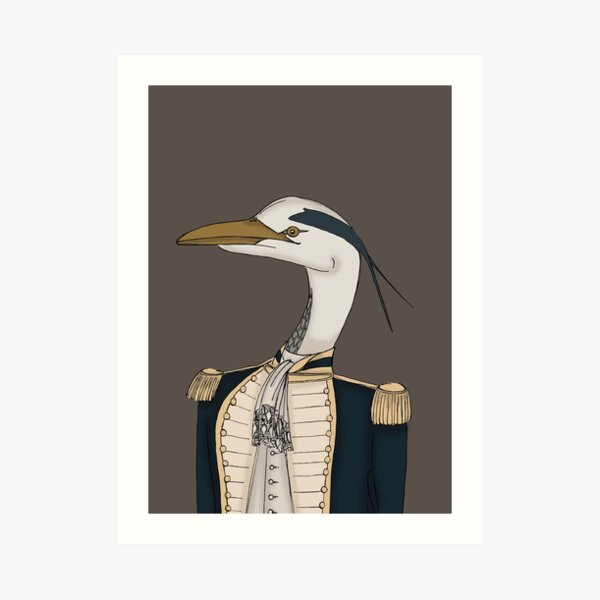 Royal Navy Heron Art Print