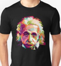Albert Einstein Genius Space Cosmos Galaxy Universe Unisex T-Shirt