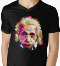 Albert Einstein Genius Space Cosmos Galaxy Universe V-Neck T-Shirt