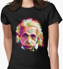 Albert Einstein Genius Space Cosmos Galaxy Universe Women's Fitted T-Shirt