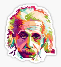 Albert Einstein Genius Space Cosmos Galaxy Universe Sticker