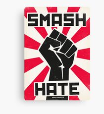 Smash Hate Canvas Print