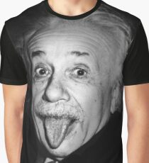 Albert Einstein Genius Tongue Funny Graphic T-Shirt