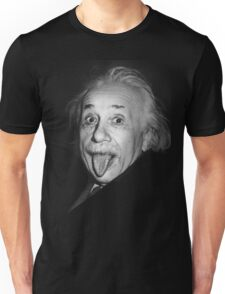 Albert Einstein Genius Tongue Funny Unisex T-Shirt