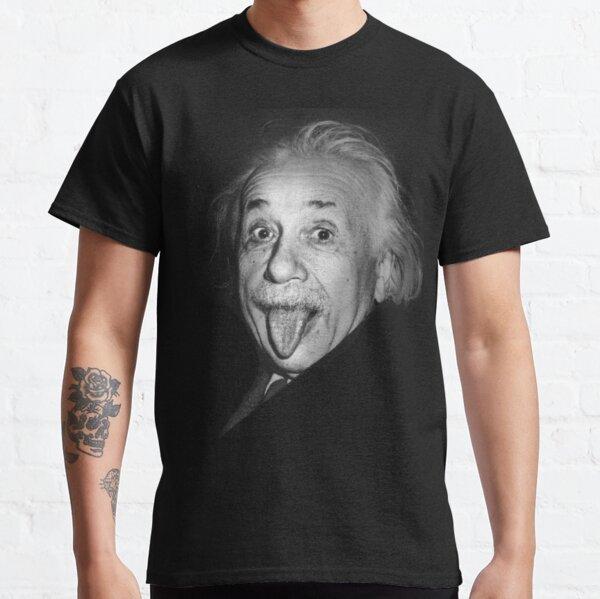Albert Einstein Genius Tongue Funny Camiseta clásica
