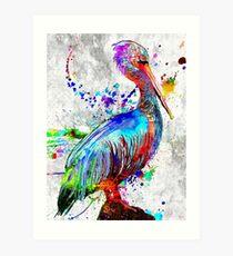 Pelican Grunge Art Print