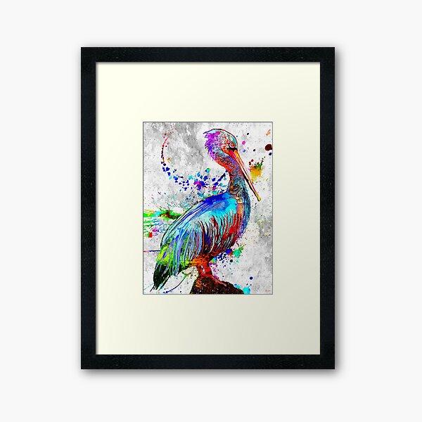 Pelican Grunge Framed Art Print