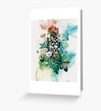 Bird in Flowers Greeting Card