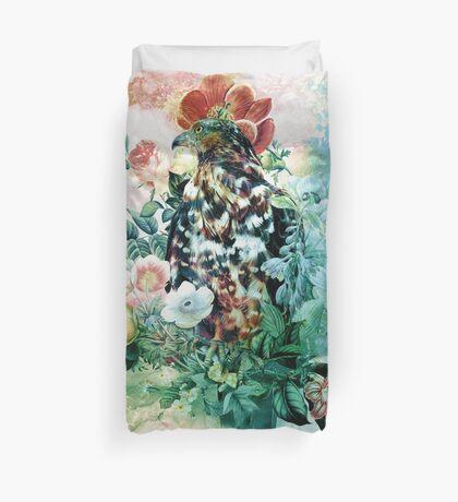 Bird in Flowers Duvet Cover