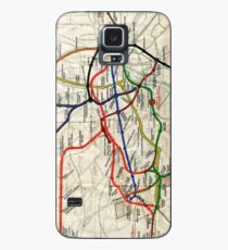 Map - London Underground Map - 1908 Case/Skin for Samsung Galaxy