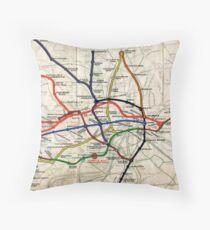 Map - London Underground Map - 1908 Throw Pillow