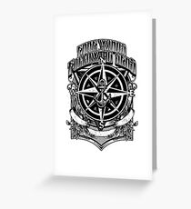 Fare Winds and Following Seas Nautical Compass & Anchor Greeting Card