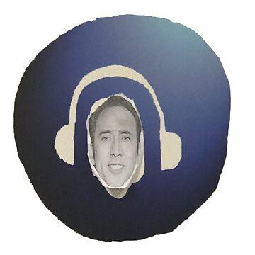 Nicolas Cage Headphones by whackanalien25
