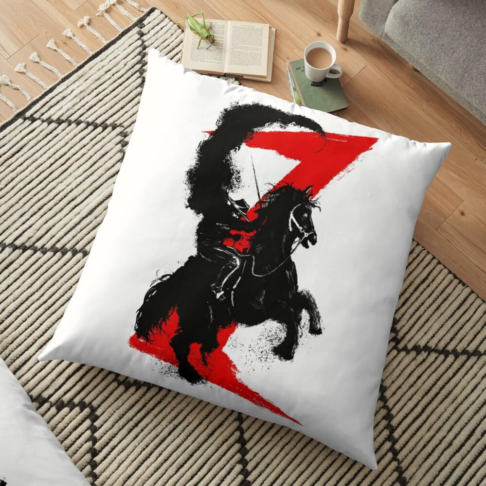 Zorro Horse Attitude  Floor Pillow