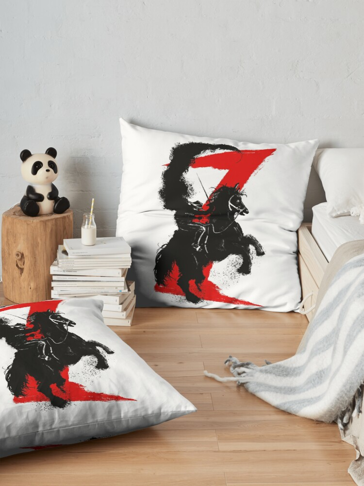 Alternate view of Zorro Horse Attitude  Floor Pillow