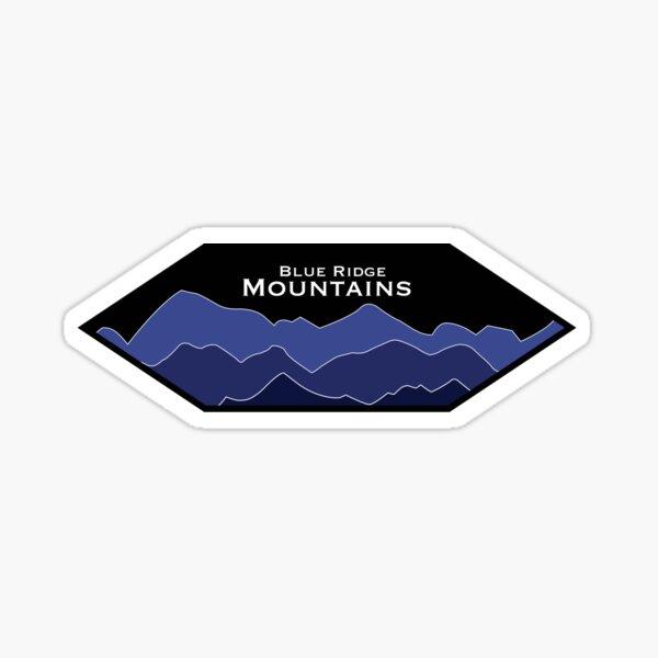 Blue Ridge Mountains Hexagone Sticker