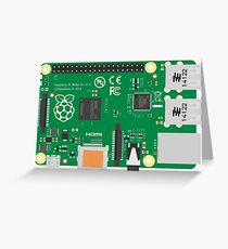 Raspberry Pi 3 Board Greeting Card