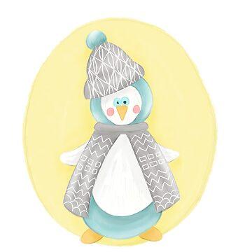 Pinguin. Winter. Weihnachten.  by frau-erbse