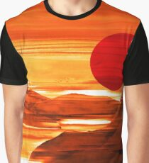 Sunset Harbor - Landscape Digital Painting Graphic T-Shirt